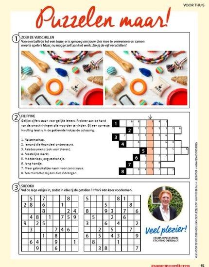 Vind hier de oplossing van de puzzel van jaargang 2- uitgave 3
