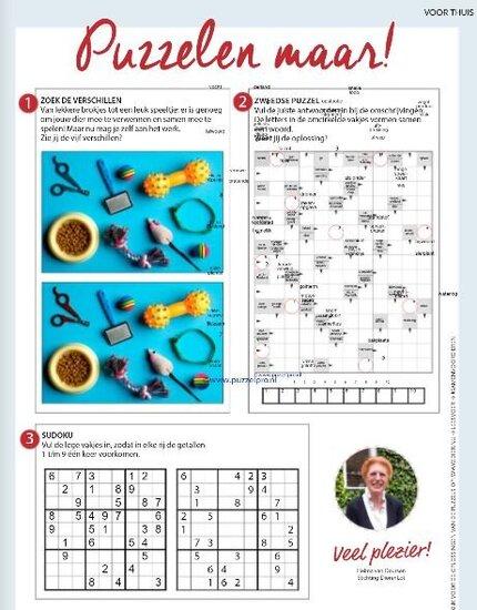 Vind hier de oplossing van de puzzel van jaargang 3 - uitgave 3